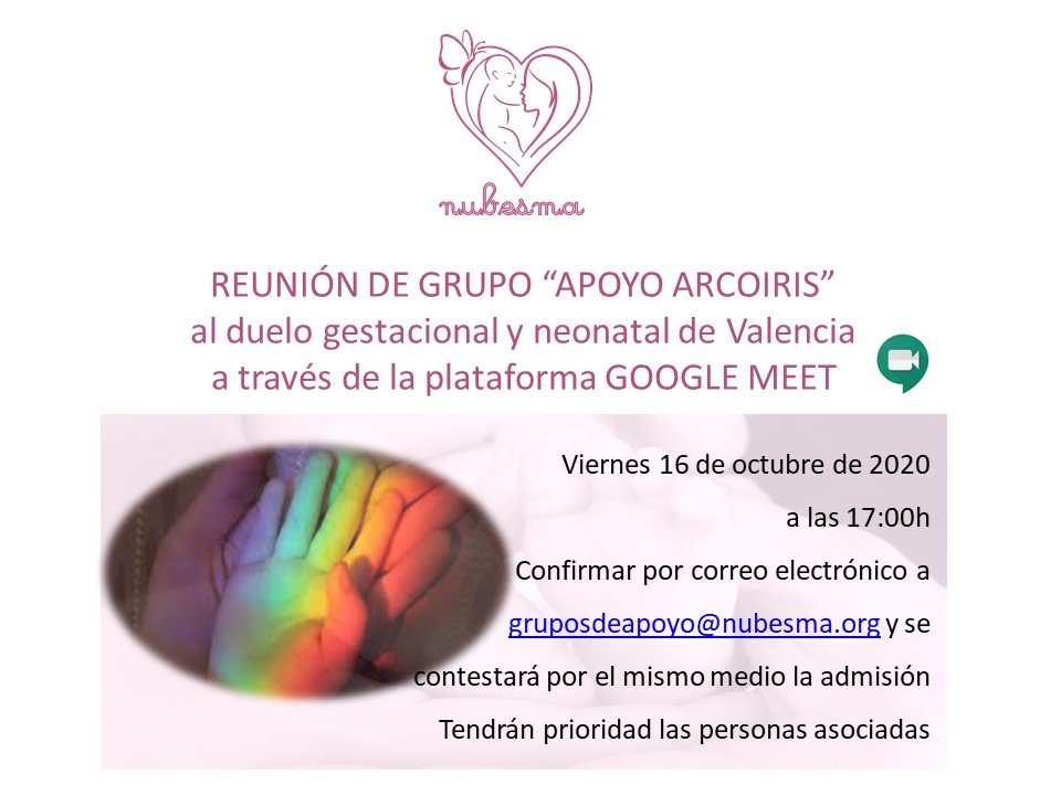 Reunión del grupo de apoyo: Bebé Arcoiris